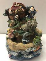 Vtg Music Box Fountain Noah's Ark Musical Water Fountain
