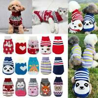 Puppy Pet Cat Dog Sweater Jacket Knitted Coat For Small Dogs Winter Warm Clothes