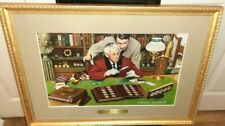 Norman Rockwell Signed The Collector Custom Gold Frame Wall Art