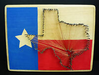 Deep in the Heart of Texas Wooden Lone Star Rustic String Art Picture