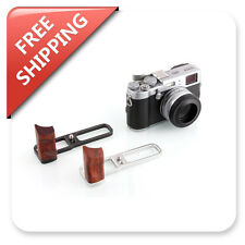 Camera Rosewood Hand Grip Holder Baseplate L Bracket for Fujifilm Fuji X100T