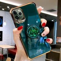 For iPhone 12 11 Pro Xs Max XR 8 7 Bling Diamond Glitter Stand Holder Case Cover