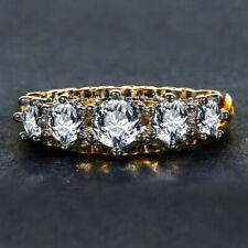 Vintage 925 Silver White Topaz Wedding Engagement Band Ring Wholesale Sz 6-10