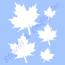 MAPLE STENCIL LEAF LEAVES CRAFT STENCILS REUSABLE DURABLE ART NEW TEMPLATE 6x7.5
