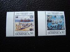DOMINIQUE - timbre yvert et tellier n° 1416 1417 n** (TU) stamp