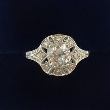 Antique Art Deco Diamond Solitaire Ring -  1.08ct in 18ct White Gold  - Size P
