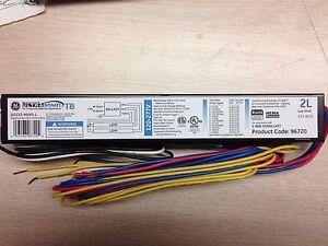 10 GE 96720 GE232-MVPS-L 120/277V T8 PROGRAM START BALLAST (2) F32T8 SMALL CAN