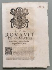 Campania, AVERSA. SACRA ROTA. Placchetta a carattere legale del 1729...