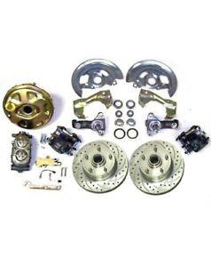 GM Chevy II 2 Nova High Performance Power Disc Brake Kit Slotted Rotors