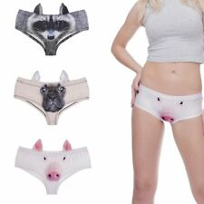 Soft Panties Cute Lady Animal Pattern Pants Briefs Women 3D Print Underwear