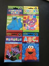 4 PACKS SESAME STREET FLASH CARDS - ABCs NUMBERS COLORS EARLY WORDS 144 TOTAL