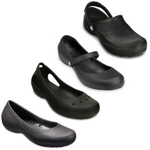 Crocs Womens Work Shoes Alice Kadee Mercy At Work Closed Toe Comfort Flats Clogs