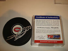 Travis Moen Signed Montreal Canadiens Hockey Puck PSA/DNA COA Autographed a