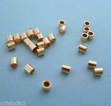 100pcs  2mm 14k ROSE gold filled CRIMP BEAD tube spacer yellow shiny USA F06rg