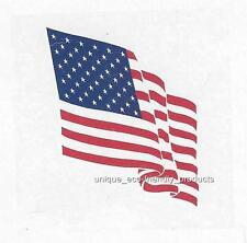 AMERICAN FLAG WAVY Temporary Tattoo