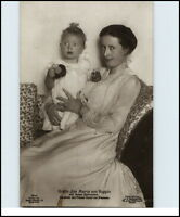 Gräfin Ina Maria v. Ruppin Gemahlin Prinz Oskar v. Preussen mit Söhnschem ~1915