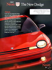 1997 Dodge Neon coupe/sedan new vehicle brochure