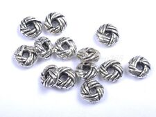 100Pcs Tibetan Silver Twist Circle Charms Spacer Beads 6X3MM BE391