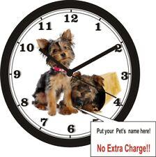 CUSTOM PET PHOTO WALL CLOCK-Add your own photo & pet name!