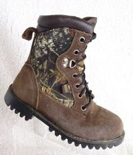 RedHead GORE-TEX Dark Brown Leather Youth size 3 M Boots w/ Vibram sole Boots