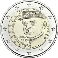 Slowakei 2 Euro 2019 Milan Rastislav Štefánik Gedenkmünze Stefanik bankfrisch