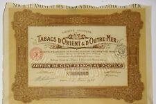 Tabaco Oriental y de''Outre Mar acción de la 100 Frs 1928 (316167)