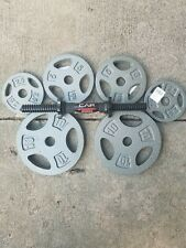 """(1) CAP 14"""" STEEL Dumbbell Handle + 35lbs CAP weights 1"""" 2-10lb 2-5lb 2-2.5lb"""