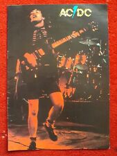 ACDC RARE 1978 POWERAGE TOUR PROGRAMME BON SCOTT ANGUS MALCOLM YOUNG PHIL RUDD