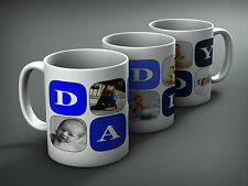 Personalised gift, Fathers day mug, DADDY gift with five of you own photos