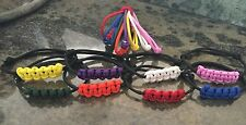 Paracord Puppy Whelping Collars 8 Ea Of Solid Newborn And Fancy (Adjust To Fit)