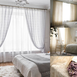 Modern Flower Curtain Lace Sheer Cotton Crochet Curtain Living Bed Room Decor