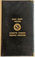 Vintage Engine Service Time Book, Brotherhood of Locomotive Engineers 1980