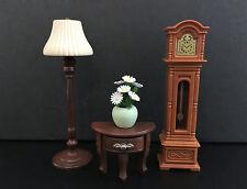 Sylvanian Families JP - Grandfather Clock & Floor Lamp Set / '04 Calico Critters