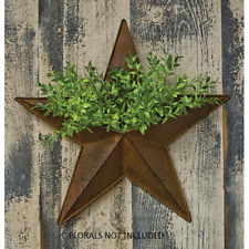 "Rustic Primitive Rusty Tin 12"" Pocket Barn Star home decor New"