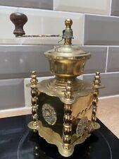 More details for brass vintage coffee hand grinder