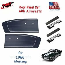 Black Vinyl Door Panels with Arm Rests for 1966 Mustang by TMI in the USA