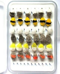 Assorted selection CARP FLY FISHING DEER HAIR BISCUIT FLIES BARBED/BARBLESS