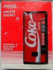 RARE vintage COCA COLA vending machine design AM/FM RADIO COKE