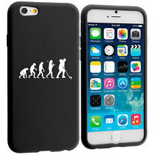 For iPhone 4 4s 5 5s 5c 6 6s Silicone Soft Rubber Case Cover Evolution Hockey