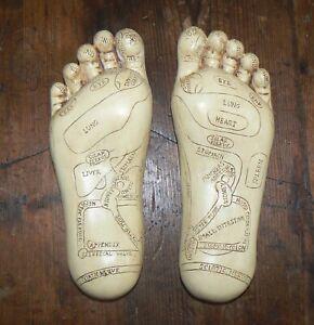 Reflexology Feet  Tina Tarrant Style Vintage Look Health Therapy Home Decor