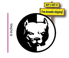 Pitbull Chopper Pit Bull Dog Vinyl Shadow AKC Decal Sticker Made in America