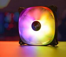 More details for aerocool pulse 12 3pin argb 120mm chassis pc case fan addressable rgb 4pin pwm