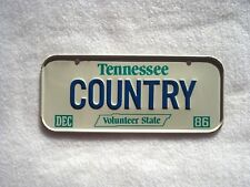 1986 TENNESSEE Post Cereal License Plate # COUNTRY