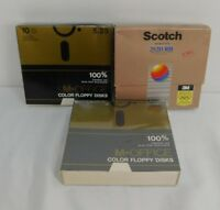 """Three Boxes of Vintage 5 1/4"""" Floppy Disks One Pack Unopened and Pascal Software"""