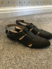 Topshop Black Cut Out Pointed Shoe Sandals Size 6