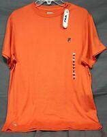 Fila SPORT Performance Short Sleeve Stretch T-Shirt Orange NEW Men's Med