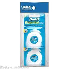 Oral-B Essential Dental Waxed Floss Mint Flavor 50m 2 packs (total 100m)