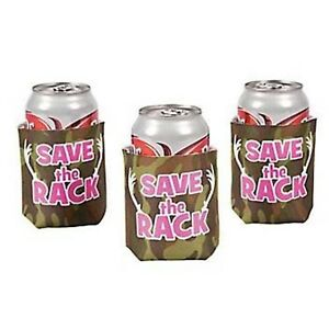 12  SAVE THE RACK CAN COVER BREAST CANCER AWARENESS PARTY FAVOR FOAM COOL COVERS