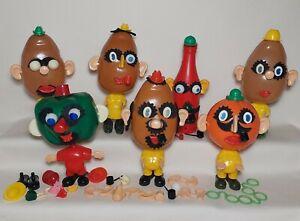 Vintage 60s Mr Mrs Potato Head Lot Oscar Orange Pepper Ketchup