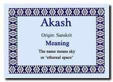 Akash nome personalizzato significato MAGNETE JUMBO